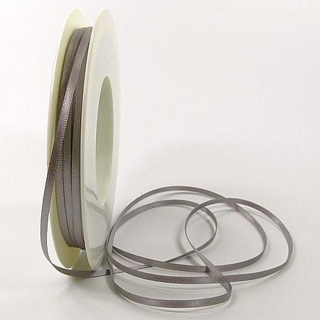Satinband SINFINITY, silber-grau: 3mm breit / 50m-Rolle, mit feiner Webkante.