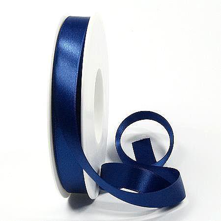 Satinband-SINFINITY, marineblau: 15mm breit / 50m-Rolle, mit feiner Webkante