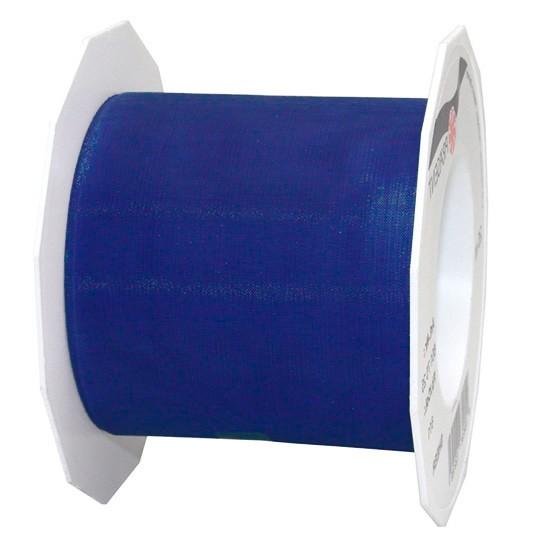 Organzaband-Sheer: 72mm breit / 25m-Rolle, royalblau..