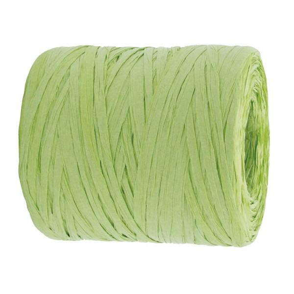 PAPER-Raffia-Bast, lindgrün: 5mm breit / 200m-Rolle