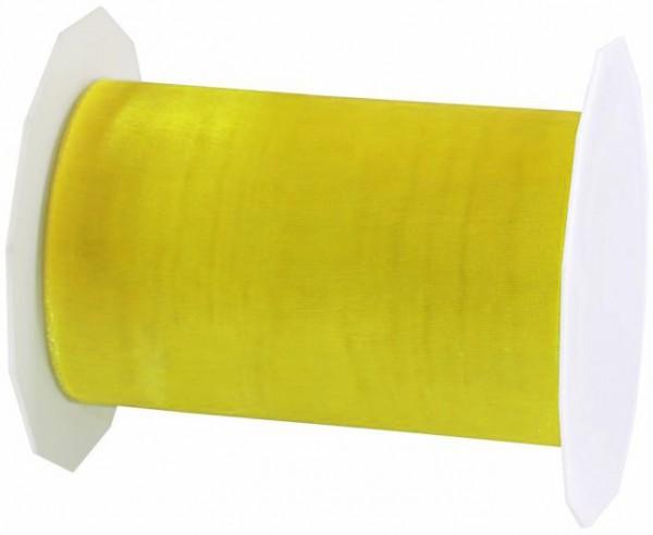 Organzaband-Sheer: 112mm breit / 25m-Rolle, hellgelb