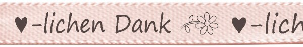 Satinband ♥-lichen Dank, hellrosa: 15mm breit / 25m-Rolle