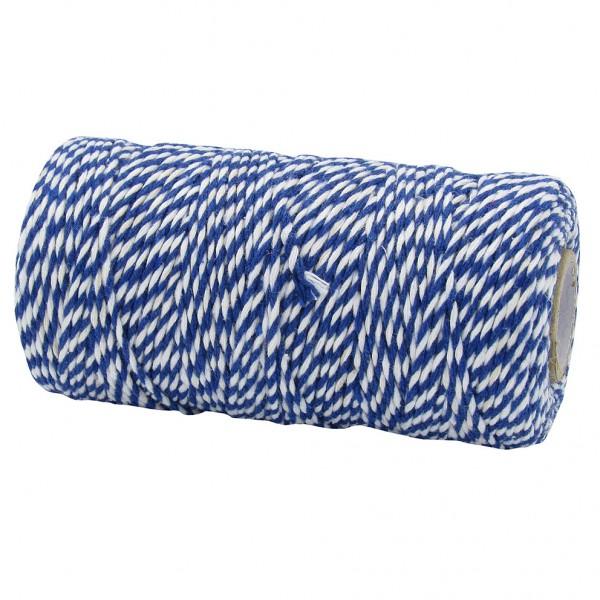 Bäckergarn, dunkelblau-weiß: 1,5mm breit / 100m-Rolle
