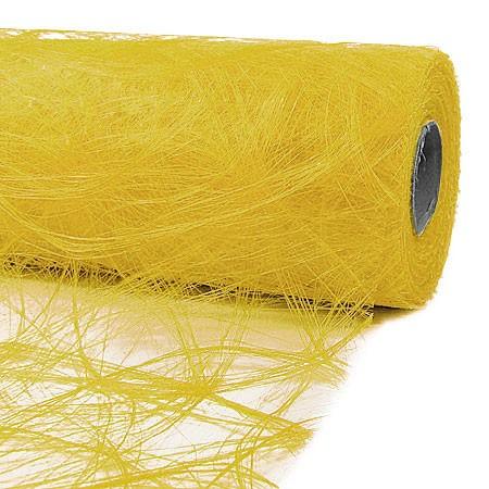 Sizoweb® - Deko-Vlies: 30cm breit / 25m-Rolle, hellgelb