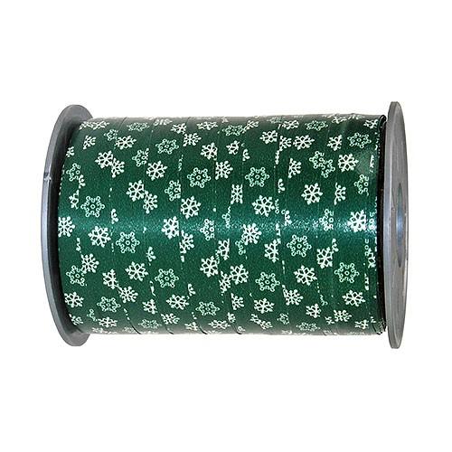 POLY-SCHNEE Ringelband: 10mm breit / 200m-Rolle, tannengrün