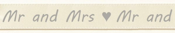 Mr and Mrs. creme: 15mm breit / 25m-Rolle