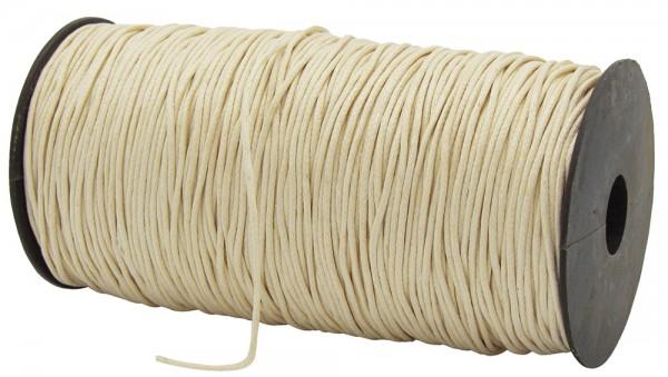 Gewachste Baumwollkordel, creme: 1,5 mm Ø breit / 200 Meter