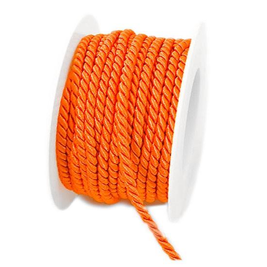 Kordel, 6mm breit / 25m-Rolle, orange
