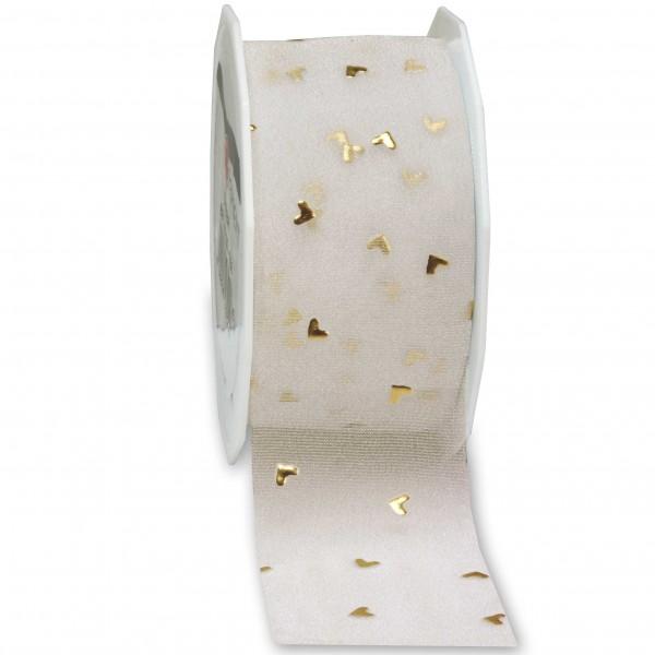 Hochzeitsband-CASANOVA, gold: 40mm breit / 20m-Rolle