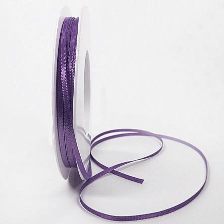 Satinband-SINFINITY, lila: 3mm breit / 50m-Rolle, mit feiner Webkante
