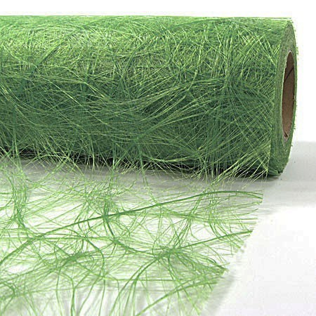 Sizoweb®, lindgrün: 30cm breit / 25m-Rolle