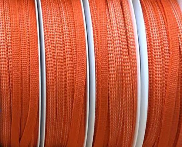 Gummiband 5mm breit / 20m-Rolle, orange -waschbar bis 60º Grad