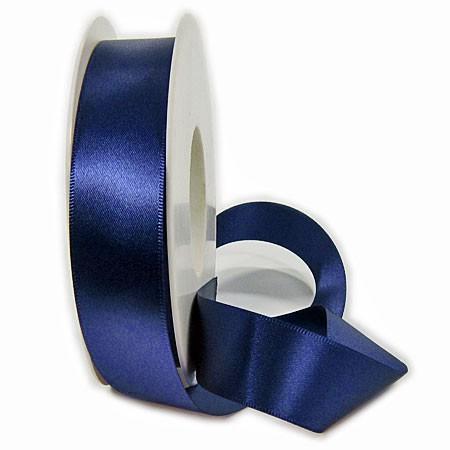 Satinband-SINFINITY, marineblau: 25mm breit / 50m-Rolle, mit feiner Webkante