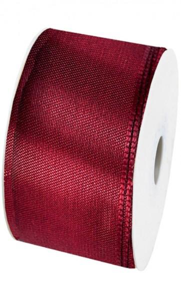 Taftband: 60mm breit / 50m-Rolle, bordeaux.
