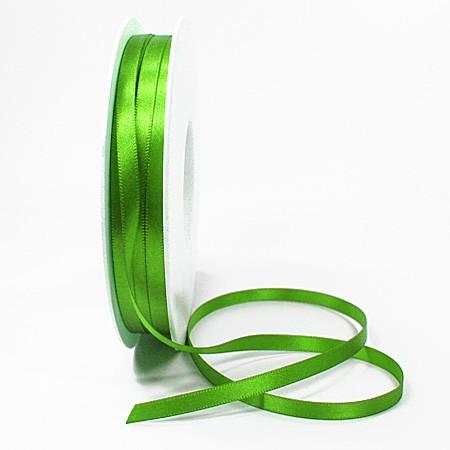 Satinband-SINFINITY, apfelgrün: 6mm breit / 50m-Rolle, mit feiner Webkante