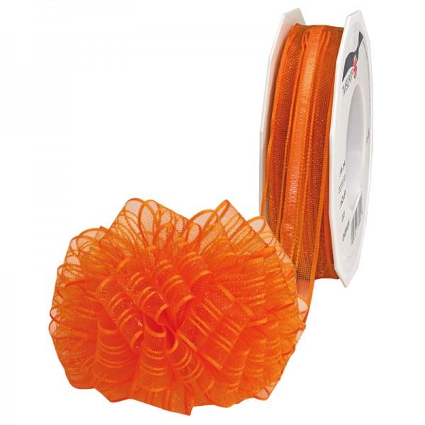 Ziehschleifenband VENEDIG: 25mm breit / 25m-Rolle, orange