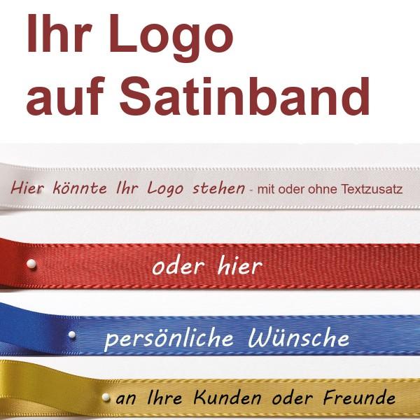 Ihr Logoband auf Doppel-Satinband