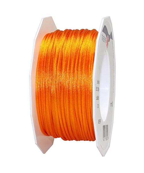 Satinkordel-RHEIN, orange: 3 mm breit - 50-Meter-Rolle
