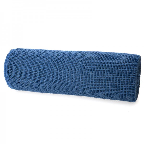 DEKOR-Jute - Tischläufer: 300mm breit / 10m-Rolle, royalblau
