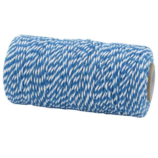 Bäckergarn, royalblau-weiß: 1,5mm breit / 100m-Rolle