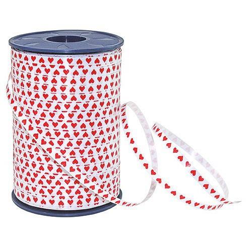 Ringelband-Honeymoon: 5mm breit / 500m-Rolle, weiß-rot