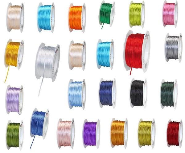 Farbauswahl: Satinkordel-Seidenkordel: 3mm Ø breit / 50m-Rolle