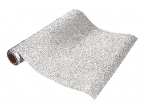 Tischband MEMORY, silber: 250mm breit / 5m-Rolle.