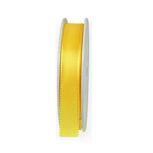 Taftband: 15mm breit / 50m-Rolle, hellgelb.