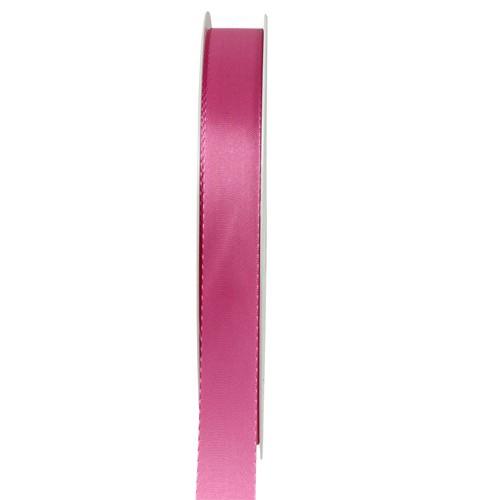 Taftband, pink: 10mm breit / 50-Rolle, mit feiner Webkante
