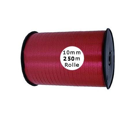 Ringelband: 10mm breit / 250m-Rolle, weinrot