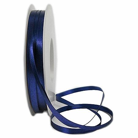 Satinband-SINFINITY, marineblau: 6mm breit / 50m-Rolle, mit feiner Webkante