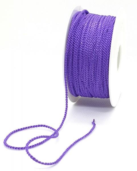 Kordel: 2mm breit / 50m-Rolle, lila.