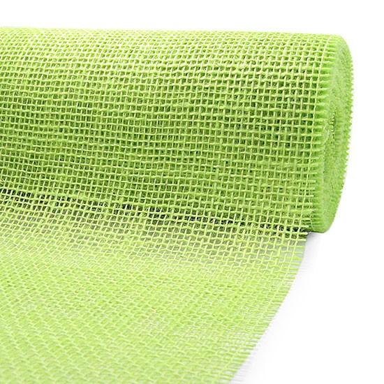 DEKOR-Jute - Tischläufer: 300mm breit / 10m-Rolle, hellgrün