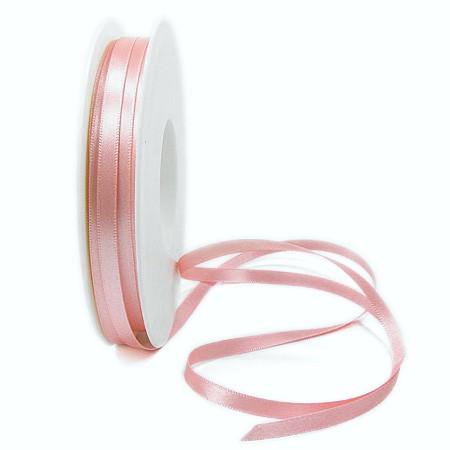 Satinband-SINFINITY, lachs: 6mm breit / 50m-Rolle, mit feiner Webkante