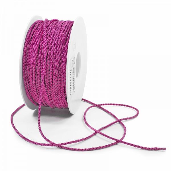 Kordel: 2mm breit / 50m-Rolle, pink.