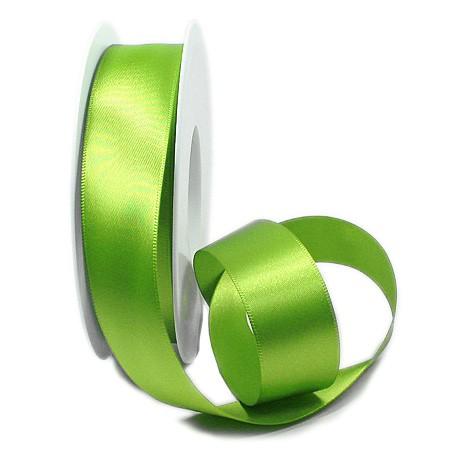 Satinband-SINFINITY, lindgrün: 25mm breit / 25m-Rolle, mit feiner Webkante