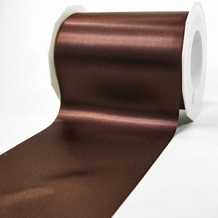 Satinband-ADRIA, kaffeebraun: 112 mm breit / 25 m - Tischband