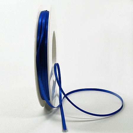 Satinband SINFINITY, royalblau: 3mm breit / 50m-Rolle, mit feiner Webkante.