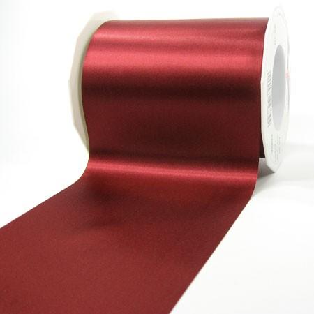 Satinband-ADRIA, Tischband: 112 mm breit / 25-Meter-Rolle, weinrot