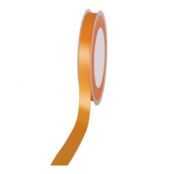 Satinband SIMPEL, hellorange: 10 mm breit / 25 Meter, mit einfacher schlichter Webkante.