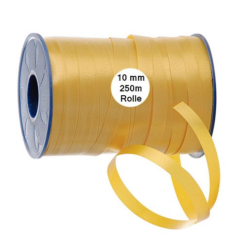 Ringelband: 10mm breit / 250m-Rolle, gold