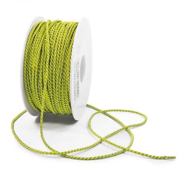 Kordel: 2mm breit / 50m-Rolle, hellgrün
