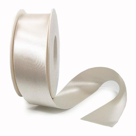 Satinband SINFINITY, champagner: 38mm breit / 25m-Rolle, mit feiner Webkante.