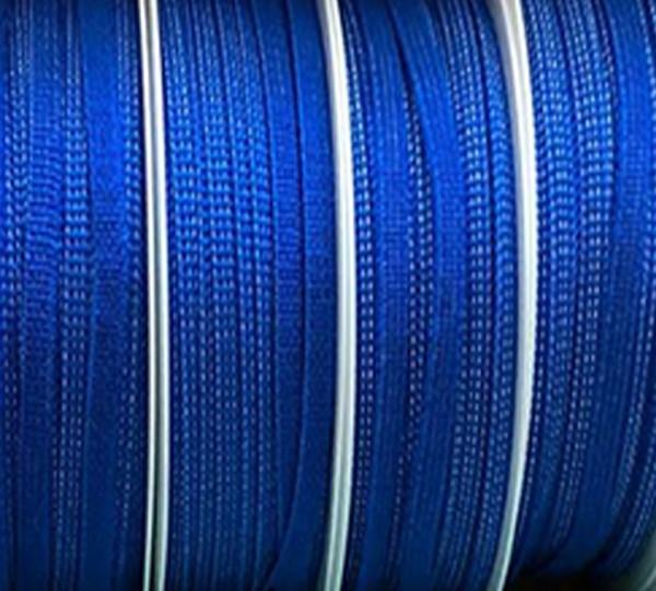 Gummiband 5mm breit / 20m-Rolle, blau -waschbar bis 60º Grad