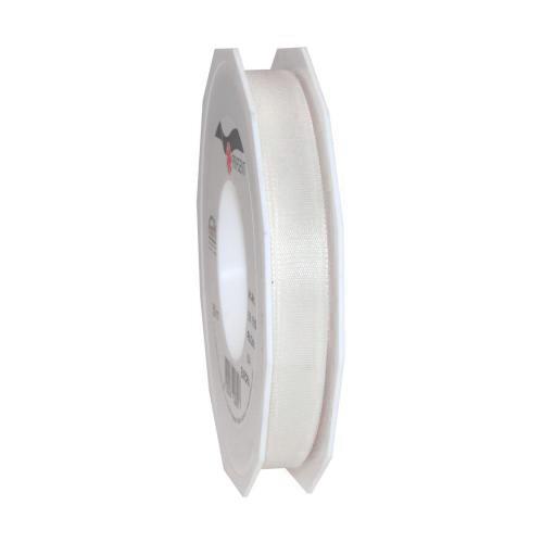 Taftband: 15mm breit / 50m-Rolle, weiss.