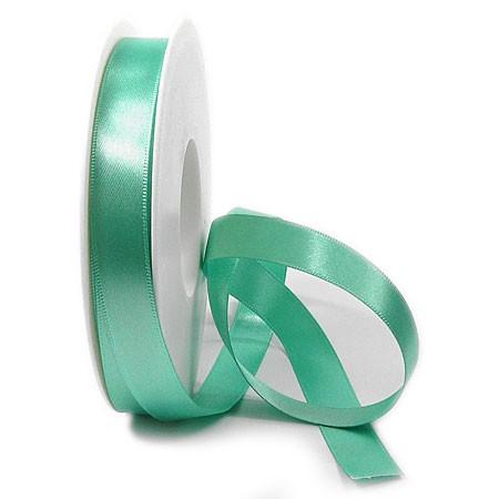 Satinband-SINFINITY, türkis: 15mm breit, 25m-Rolle