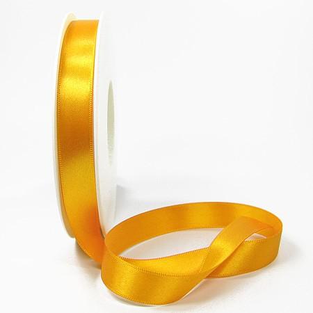 Satinband SINFINITY, gelb: 15mm breit / 25m-Rolle, mit feiner Webkante.