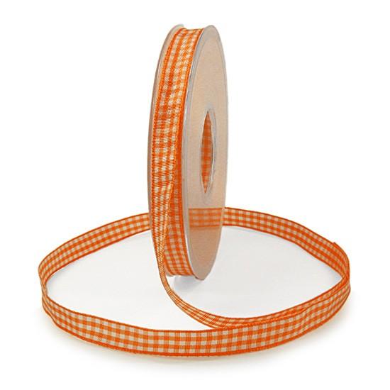 Landhauskaro, orange: 10mm breit / 25m-Rolle