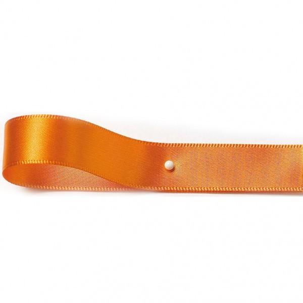 2-Flügel Fertigschleifen: orange = 100 Stück - mit Selbstklebe-Etikett