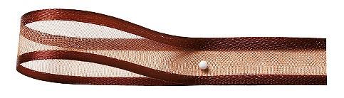 Florband: 15mm breit / 25m-Rolle, kaffeebraun
